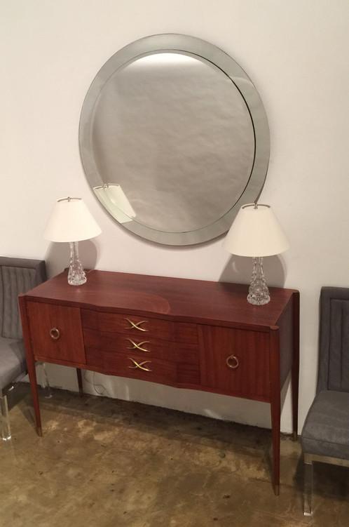 ... Modern J Robert Scott Lead Crystal Mirror Large ...