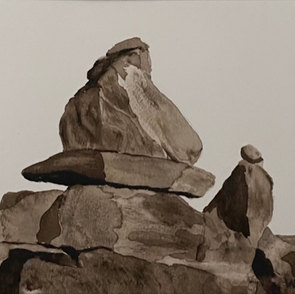 Cairn at Rye Beach - Value Study