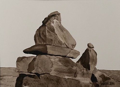 Cairn at Rye Beach, Value Study