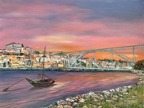 Sunrise at Porto Portugal