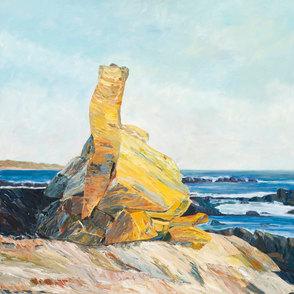 Cairn at Rye Beach