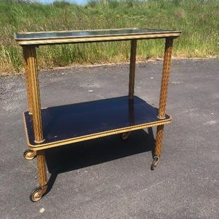Vintage Gold & Black Tea Trolley