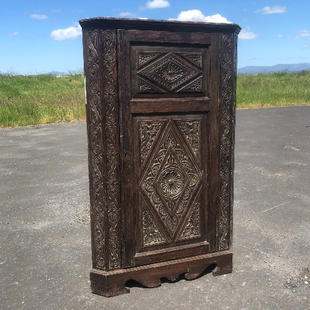 Vintage decorative Corner Cupboard