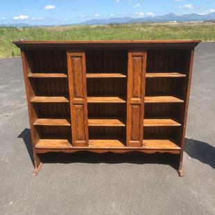 Vintage Hall Cabinet/ Bookcase