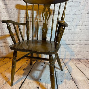 Large Spindle Back Carver Chair