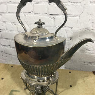 Silver plated teapot with warmer .jpg