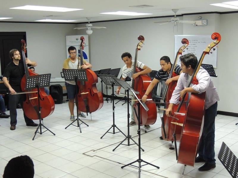 The El Sistema El Salvador bass studio, 2017