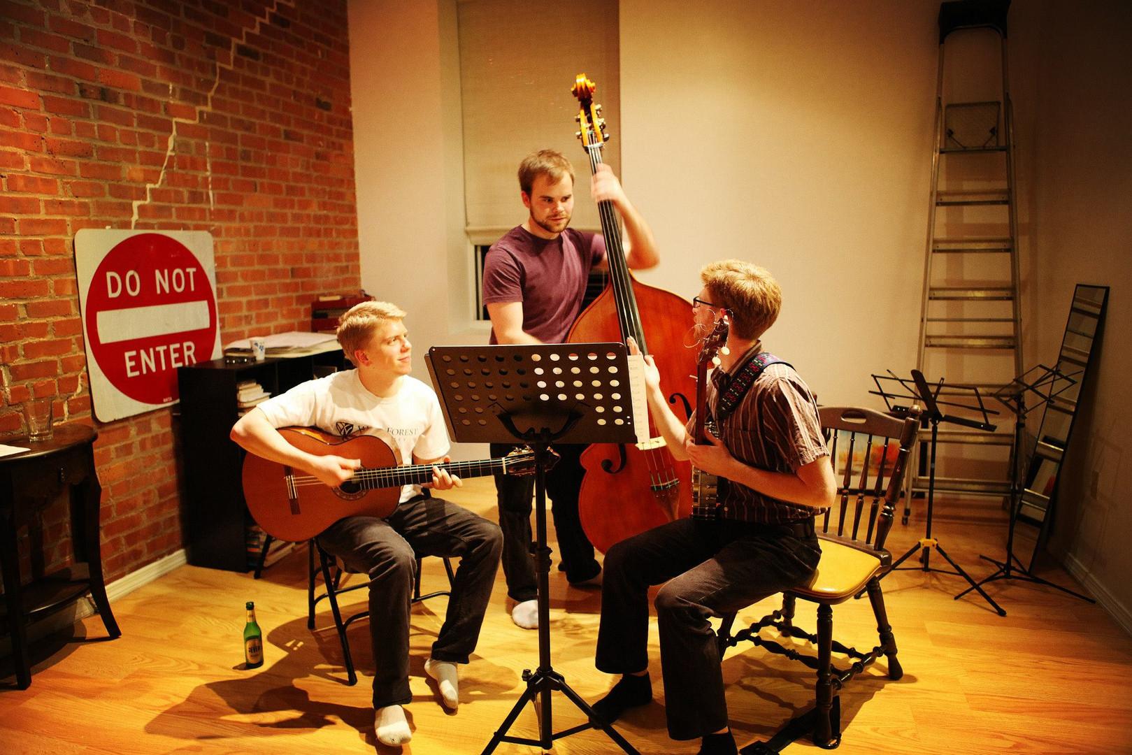 the St. Thomas More folk trio, 2014