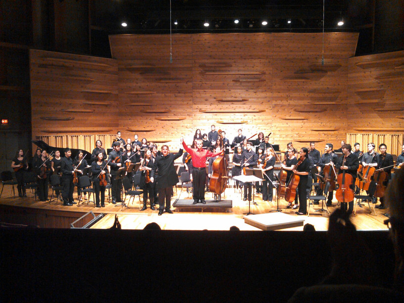 Performing the Divertimento Concertante by Nino Rota with the Rutgers Sinfonia, 2012