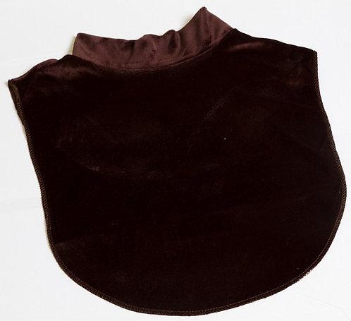 Elegant Velvet  mock  brown neck luxury dicky 100%polyestet .