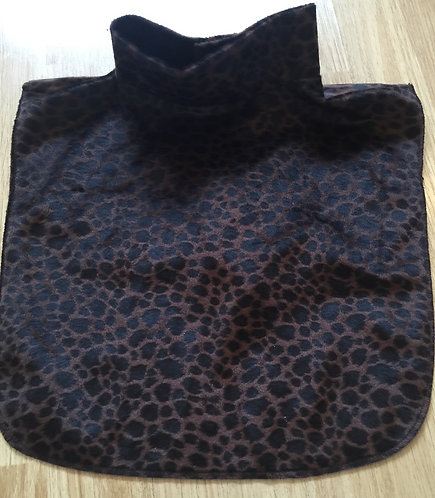 Velvet leopard velboa dicky .  Velcrose close . Elegant , Made In Canada.