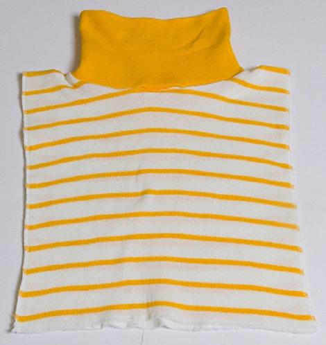 Stocking stuffer YELLOW/WHITE. Striped 100% Arylic Sweater Knit Reversible Di