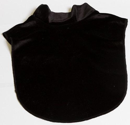 Elegant Velvet  mock  black neck luxury dicky 100%polyestet .