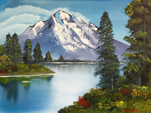 Mountain Lake Oil Painting