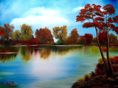 Colors of Fall Oil Painting