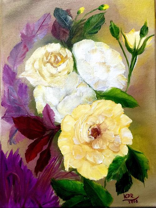 Rose Garden Oil Painting