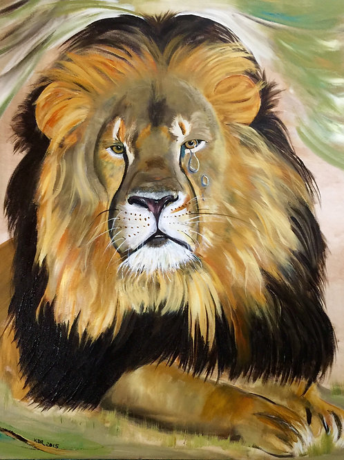 Cecil the Lion       Giclee Print of original painting