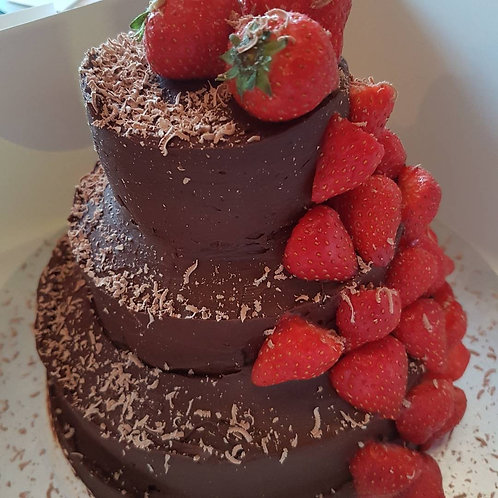 4 Tier Chocolate Cake with toppings