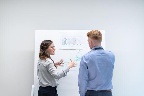 people at an engineering meeting