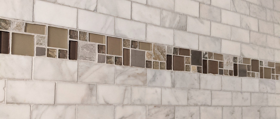 Close up of the Tile we installed