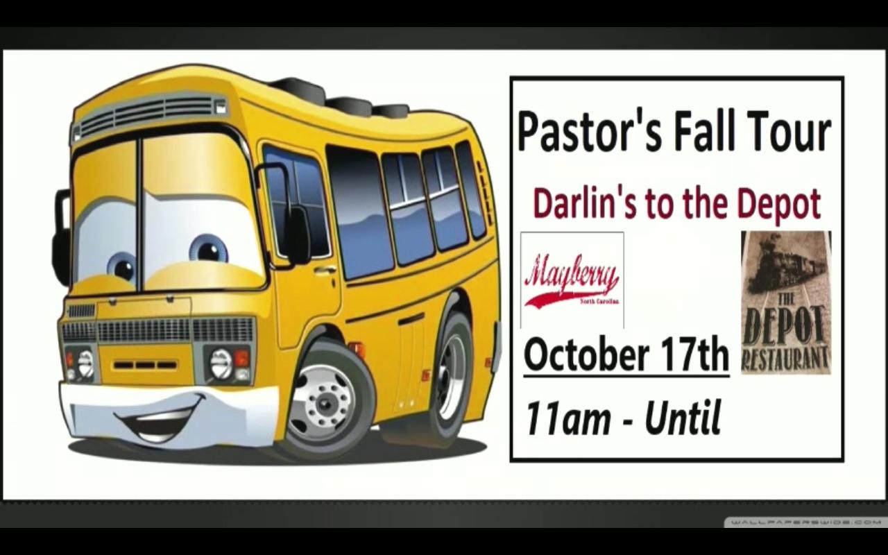 Pastor's Fall Tour