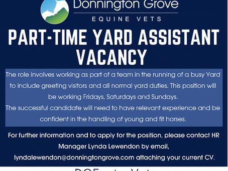 Vacancy - Part-time Yard Assistant