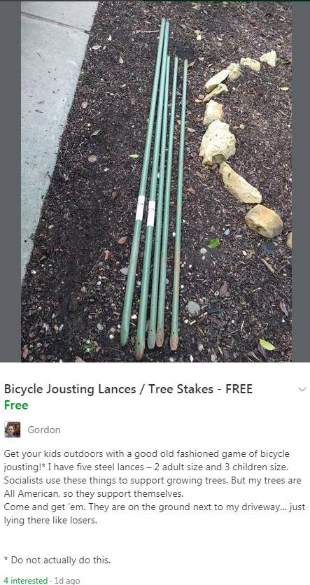 Bicycle Jousting Lances