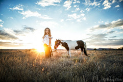 Tymbi and her rescue mini horse