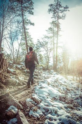 Thumb Butte hiking promo shoot