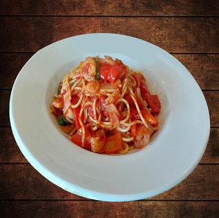Spaghetti + Shrimp