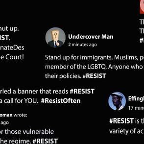 RESIST Social Media Slide