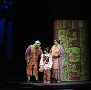 Shrek sent off by parents