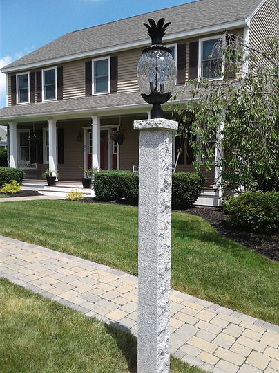 Mailboxes By Mark - Granite Lantern Posts