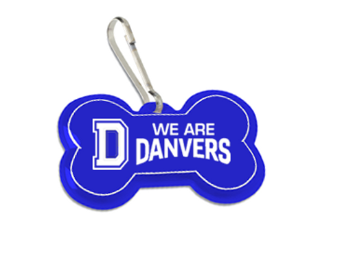 We Are Danvers Reflective Dog Bone Collar Tag!