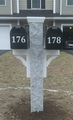 Mailboxes By Mark - Granite Mailbox Posts