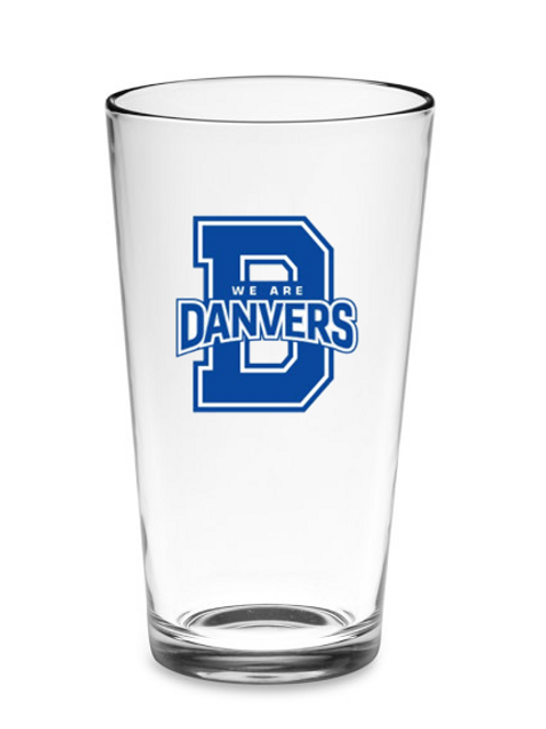 16oz We Are Danvers Glass & FREE Coaster!