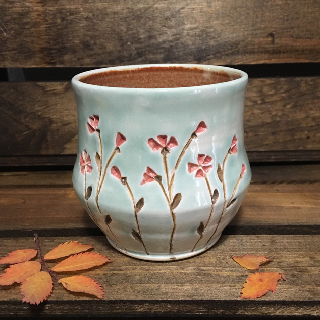 Red Blossoms Whiskey Cup