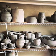 Unfired Pottery Drying