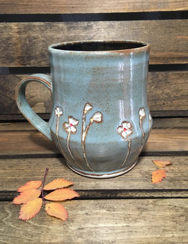 White Blossoms Mug