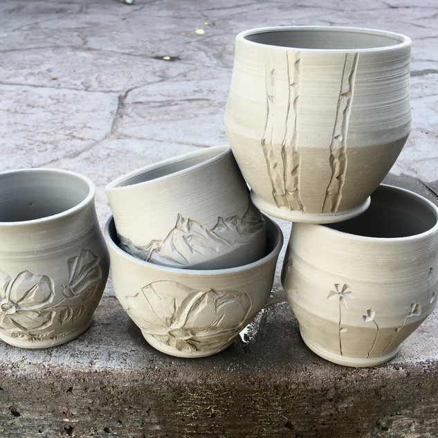 Carved Whiskey Cups