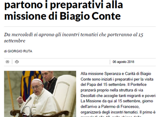 Preparativi per la Visita del Papa
