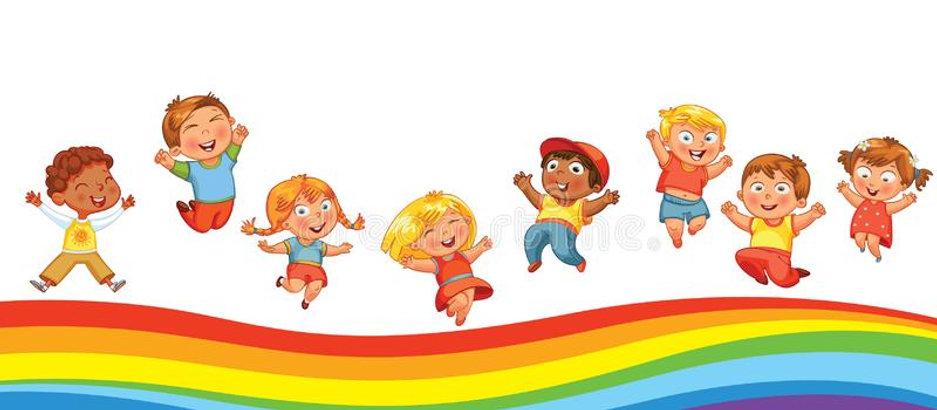 i-bambini-che-saltano-su-un-arcobaleno-g