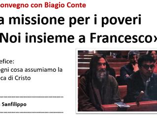 Il Convegno con Biagio Conte