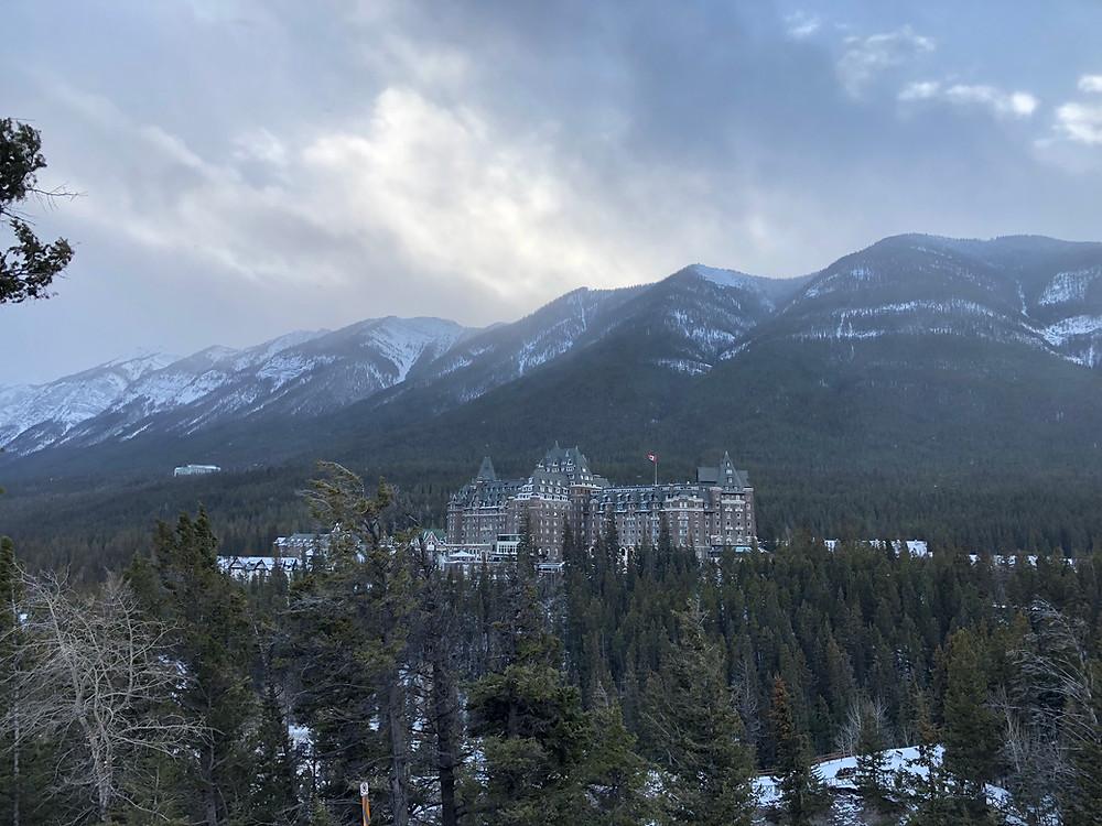 view from secret corner Fairmont Banff Spring hotel