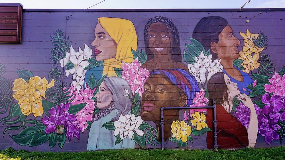 Diversity mural on Fourth Plain