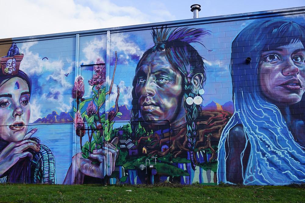 mural on Fourth Plain