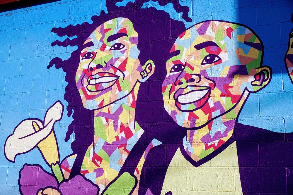 Ethnicity mural on Fourth Plain