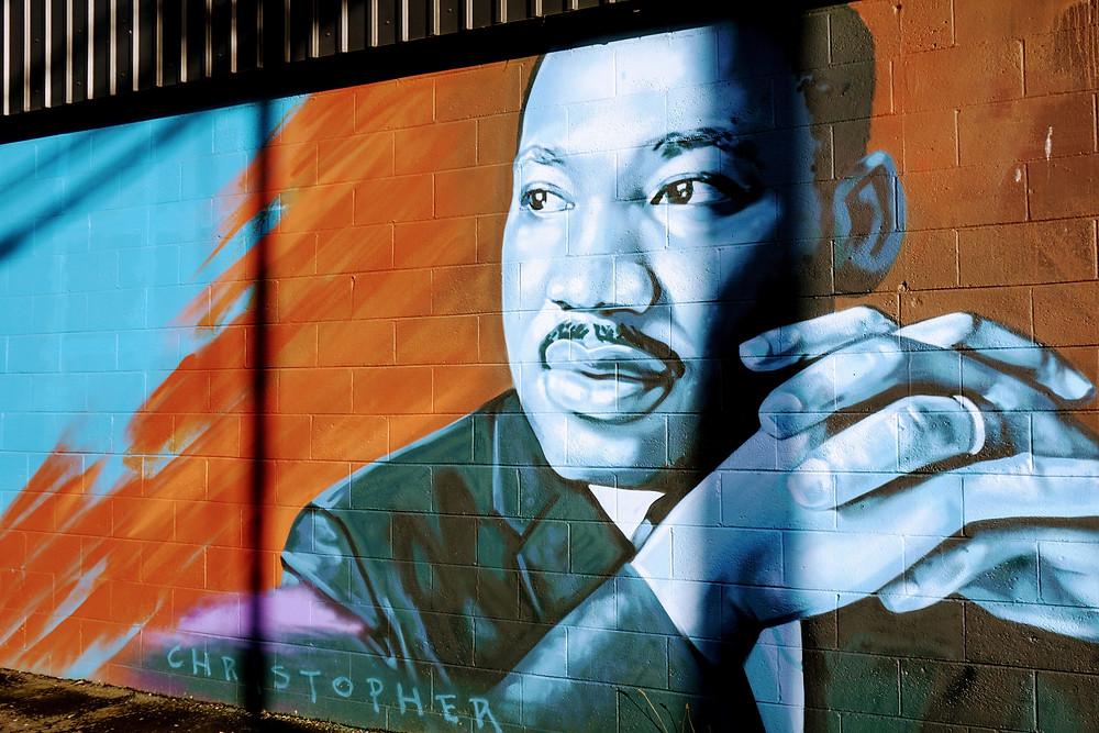 MLK mural on Fourth Plain
