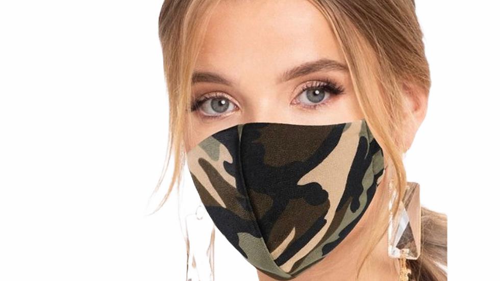 Camo Filter Face Mask
