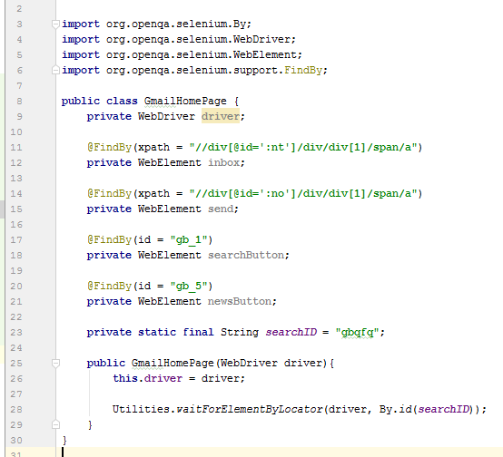 Selenium Page Object Design Pattern Example With JAVA